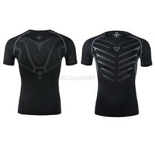 Men Compression Outdoor Sports Tight Shirts Fitness Athletic GYM Base Layer Tops