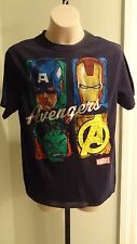 NWT Avengers Boys Black Short Sleeve Shirt - Sizes 7 (XS) - 10/12 (medium)