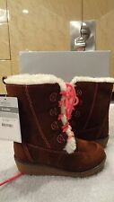 """NWT Carters Toddler Brown Faux Suede """"Lindsay"""" Winter Boot - Sizes 5, 6, 8 & 10"""