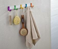 Aluminium Colorful 3/5/6/7 Hooks Wall Mount Bath Coat Towel Hanger Rack Holder