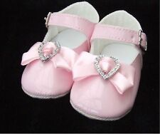 Little Cutie Pink Baby Girl Patent Pram Christening Occasion Shoes
