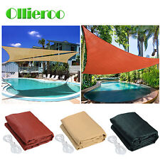 Ollieroo Sun Shade Sail UV Top Outdoor Canopy Patio Lawn 12' 16.5' Triangle New