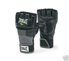 EVERLAST Open Finger Gloves Loop Combat MMA Boxing Grappling Gym Weight Training
