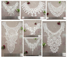 OFF WHITE / IVORY GUIPURE LACE SEW ON COLLAR EMBROIDERY EMBELLISHMENTS SEWING