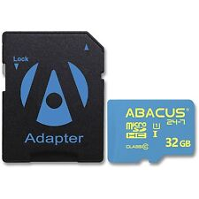 High Speed Abacus24-7 Micro SD Card for BLU Phone Models  - with Adapter