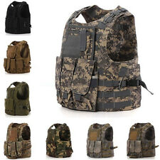 Military Tactical SWAT Airsoft Army Molle Hunting Paintball Vest Plate Carrier