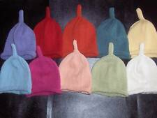 Hand Knitted Cashmere & Wool Baby Hats 0-3 months