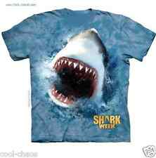 Shark Week T-Shirt/2016 Edition Great White Attack/Ocean blue Tie Dye Tee,Sharks
