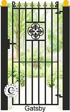 """Wrought Iron Steel Metal Side Gate - """"Gatsby"""" 6ft Tall Gate"""