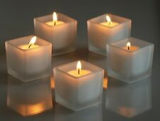 72 Frosted Square Votive Holders+72 Votive Candles: Choose From 10 Candle Colors