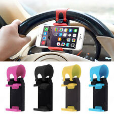 Car Steering Wheel Bike Clip Mount Holder for Samsung Galaxy S iPhone Cell Phone