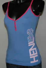 Womens Girls Henleys Vest Haverig Small Medium Strap Vest Top Blue Pink Sale