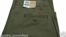 Dockers D-2 Regular Fit Baggy Flat Front Chino Men's Straight Trousers Green NEW
