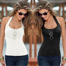 Fashion Lady Cotton Tops Halter Vest Tank Top Cami Strapless T-shirts Sleeveless