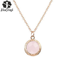 Round Pendant Trendy Women Necklace Colorful Crystal Fashion Jewellery Necklace