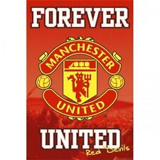 Manchester United FC Poster Crest 19 Football Soccer EPL