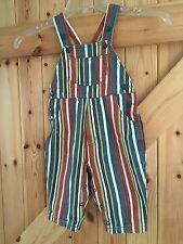 Retro Baby Dungarees By Adams Age 6-9 Months 74cm Stripy Mix Coloured