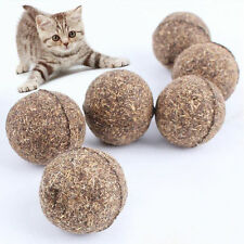 Nature Mint Cat Play Toys Ball Coated w/ Catnip Bell Toy For Pet Kitten Plan Fun