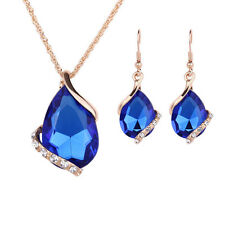 1Set Women Necklace Earrings Water Prop Shapes Wedding Jewelry Sets Accessories