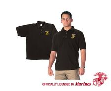 Marines - Military Embroidered Golf Shirt - Officially Licensed by U.S. Marines