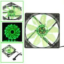 New Quad 15/4-LED Light Neon Clear 120mm PC Computer Case Cooling Fan Mod LOT