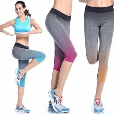 New Women Stretchy YOGA Running Elastic Sports Fitness Leggings Tight Pants