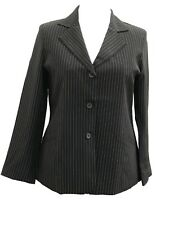 NEW LADIES WOMANS BUSINESS FLATTERING PINSTRIPE WORK JACKET SIZE 16 TO 22 UK