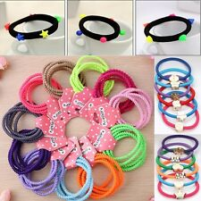 10PCS Lady Girl Elastic Hair Band Ties Lot Accessories Ponytail Holder Bracelet