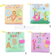 Kids Infant Baby Intelligence Development Soft Cognize Cloth Book Multicolor