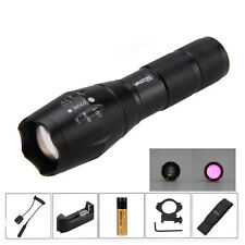 Zoom 5W 850nm IR Infrared Radiation Night Vision LED Flashlight Torch 18650 Lamp