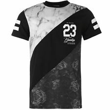 Fabric Mens Gents Marble T-Shirt Crew Neck Short Sleeve Clothing