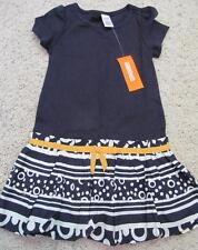 NWT 5 6 Gymboree Cape Cod Cutie Knit Navy Top Print Dress