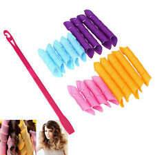 18PCS&Set Curl DIY Hair Curlers Tool Styling Rollers Spiral Circle Magic Rollers