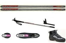 NEW Metal Edge XC cross country NNN SKIS/BINDINGS/BOOTS/POLES PACKAGE - 177cm