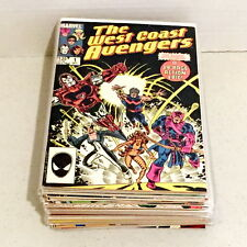 Marvel Comics West Coast Avengers Lot Iron Man Scarlet Witch Vision Hawkeye