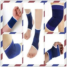 2 PCS Elastic Ankle Elbow Wrist Palm Calf Brace Support Sleeve Sports ProtectorA