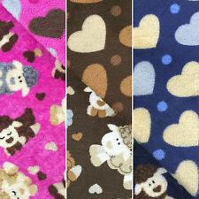 Reversible Sheep & Hearts Super Soft Cuddle Fleece Fabric for Crafts, Blankets