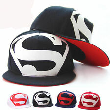 Fashion Men's Unisex Superman Snapback Baseball Cap Hip Hop Sport Hat Adjustable