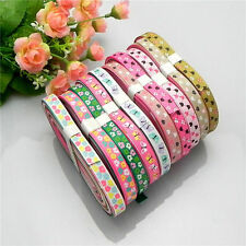 """NEW 10/20 yards 3/8"""" mix10 Style sewing satin grosgrain ribbon lot wholesale A39"""
