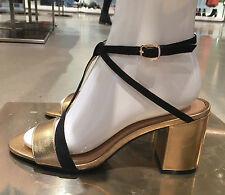 ZARA LEATHER HIGH HEEL SANDALS WITH STRAP DETAIL GOLD 36-41 Ref. 1543/101