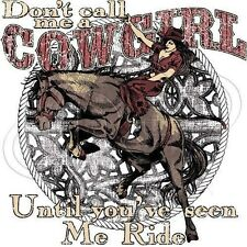 Crewneck Sweatshirt Don't Call Me A Cowgirl Till You've Seen Me Ride Rodeo Horse