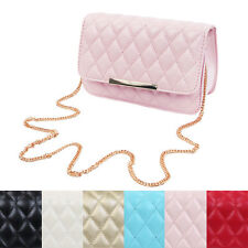 Classic Smooth Quilted Flap Clutch Handbag Crossbody Shoulder Bag - Diff Colors