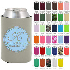 Personalized custom can koozies wedding favor Coolies quick turnaround (1113)