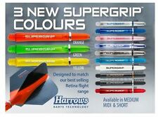 5 SETS OF HARROWS SUPERGRIP DART STEMS SHAFTS - 13 COLOURS -  3 SIZES