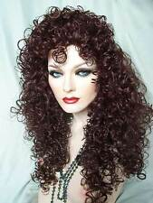 """NEW Sexy """" Lioness """" Wig Drag Queen Cosplay Long Tight Curly Cher Retails $130"""