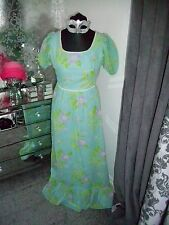 Richard Shops green maxi summer dress - Ditsy Vintage - Size 10 1970s