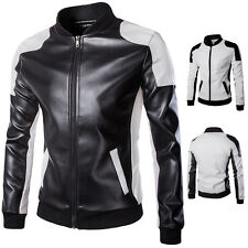 2016 New Mens Motorcycle Leather Jackets Slim Fit Stylish Luxury Coat Outwear