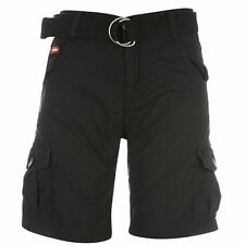 Lee Cooper Childrens Boys Belt Cargo Shorts Bottoms Pants Trousers Casual