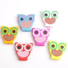 Hot Sale Mixed Candy Colorful Printing Cute Styles Charms Wooden Spacer Beads