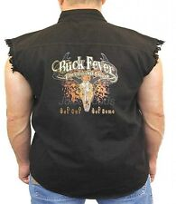 Hunting Denim Vest Buck Fever Theres No Cure Get Out And Get Some Deer Biker